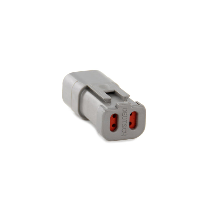 DT04-4P-C017 - DT Series - 4 Pin Receptacle - Solid Rear Grommet, End Cap, Gray