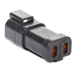 DT04-4P-CE03 - DT Series - 4 Pin Receptacle - Reduced Dia. Seals, End Cap, Black