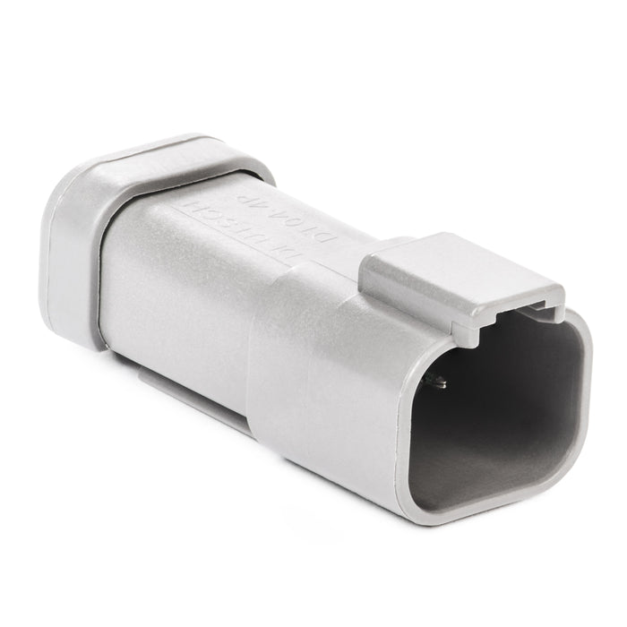 DT04-4P-P021 - DT Series - 4 Pin Receptacle - (1) 4 Pin Buss, Nickel Contacts, Gray