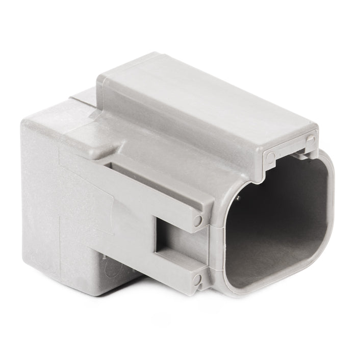 DT04-4P-RT03 - DT Series - 4 Pin Receptacle - 2 Molded-In Diodes (MUR460), Gray