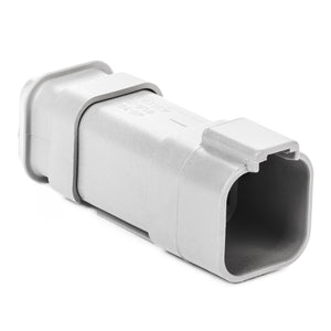 DT04-6P-E008 - DT Series - 6 Pin Receptacle - Shrink Boot Adapter, Gray