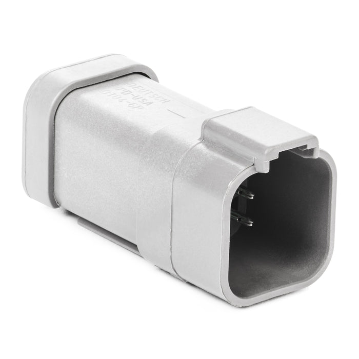 DT04-6P-P021 - DT Series - 6 Pin Receptacle - (1) 6 Pin Buss, Nickel Contacts, Gray