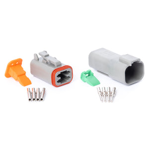 DT04GY-K - DT Series - 4 Pin Solid Contact Connector Kit