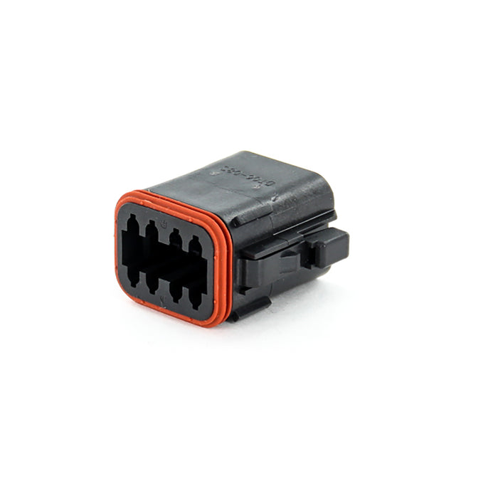 DT06-08SB - DT Series - 8 Socket Plug -  B Key, Black
