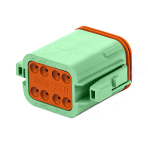 DT06-08SC - DT Series - 8 Socket Plug - C Key, Green