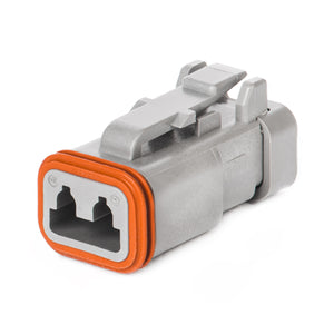 DT06-2S-CE01 - DT Series - 2 Socket Plug - Reduced Dia. Seal, End Cap, Gray