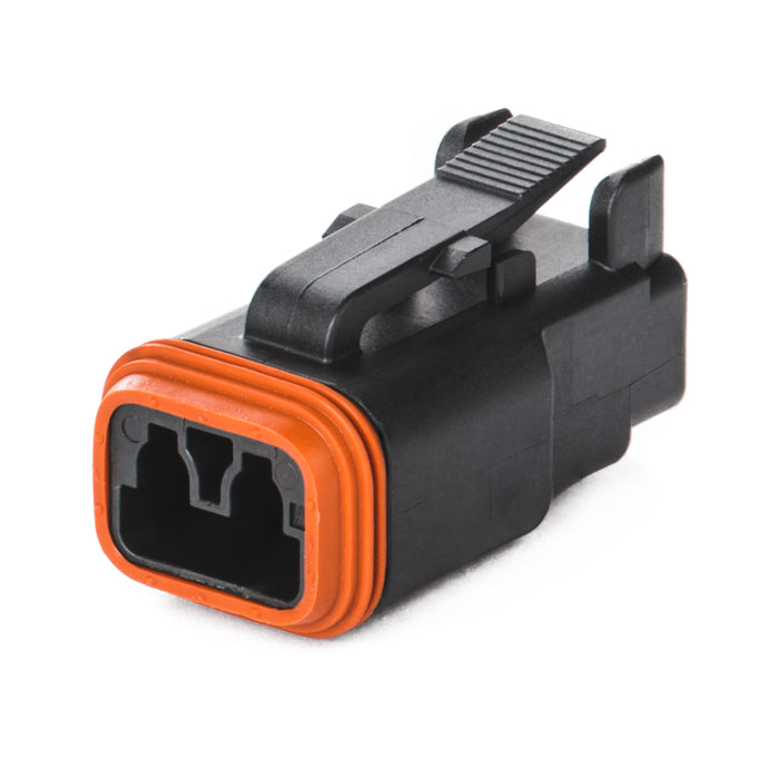 DT06-2S-E004 - DT Series - 2 Socket Plug - Black