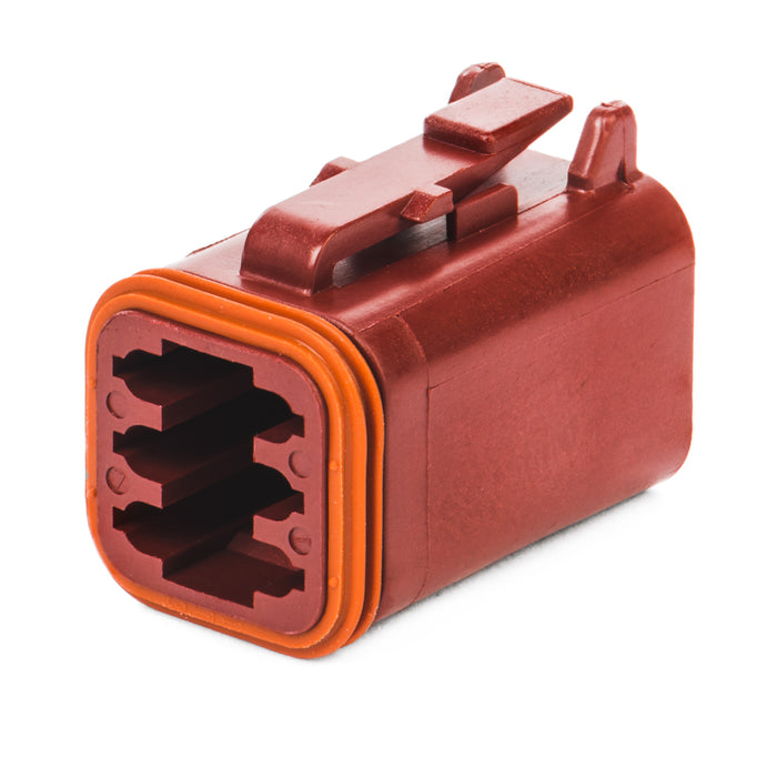 DT06-6S-RD - DT Series - 6 Socket Plug - Red