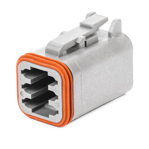 DT06-6S - DT Series - 6 Socket Plug - Gray