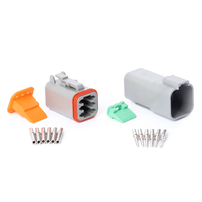 DT06GY-K - DT Series - 6 Pin Solid Contact Connector Kit
