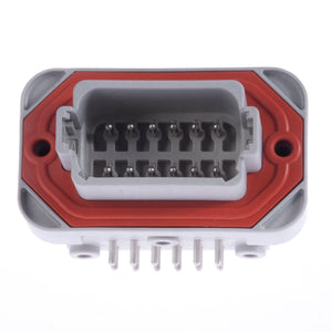 DT13-12PA - DT13 Series - Receptacle - 12 Way90° Molded Pins, PCB Mount, A Key