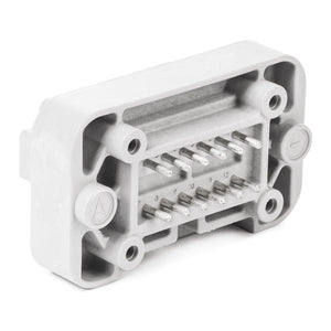 DT15-12PA - DT15 Series - 12 Pin Receptacle - A Key, Straight Molded Pins, PCB Mount, Gray