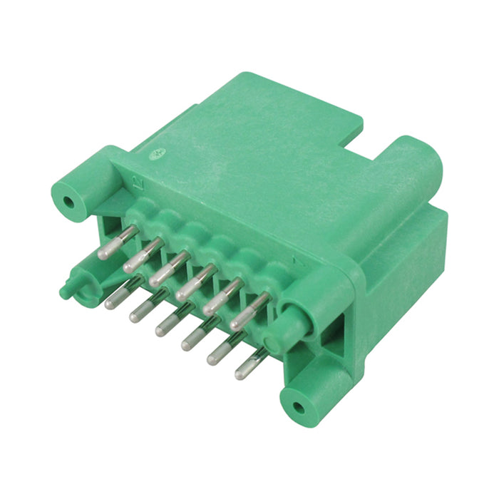 DTF15-12PC - DTF - Receptacle - 12 Way, Size 16, Straight Molded Pins, Flangeless, PCB Mount, C Key