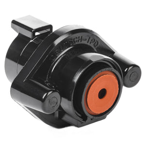 DTHD04-1-4P-L009 - DTHD Series - 4 Pin Receptacle - Sealed Flange, Black