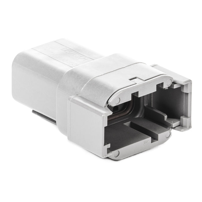 DTM04-08PA - DTM Series - 8 Pin Receptacle - A Key, Gray