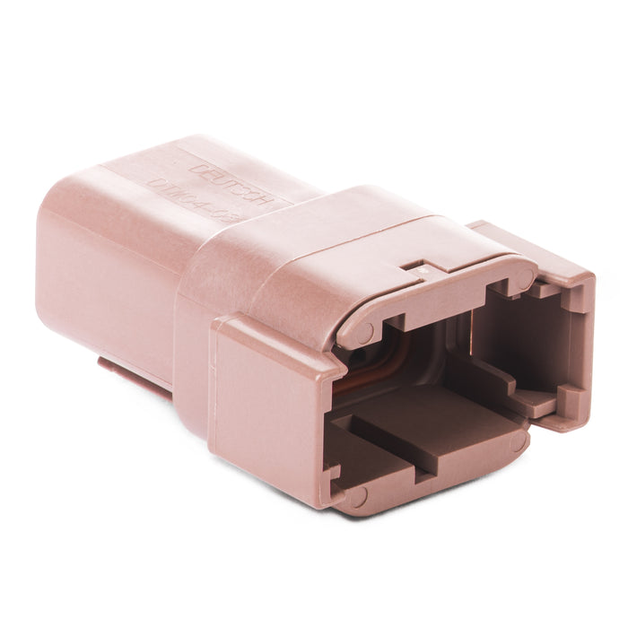 DTM04-08PD - DTM Series - 8 Pin Receptacle - D Key, Brown