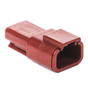 DTM04-3P-RD - DTM Series - 3 Pin Receptacle - Red