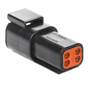 DTM04-4P-E004 - DTM Series - 4 Pin Receptacle - Black