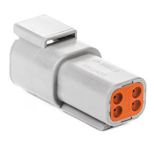 DTM04-4P - DTM Series - 4 Pin Receptacle - Gray