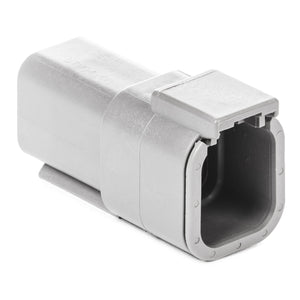 DTM04-6P - DTM Series - 6 Pin Receptacle - Gray