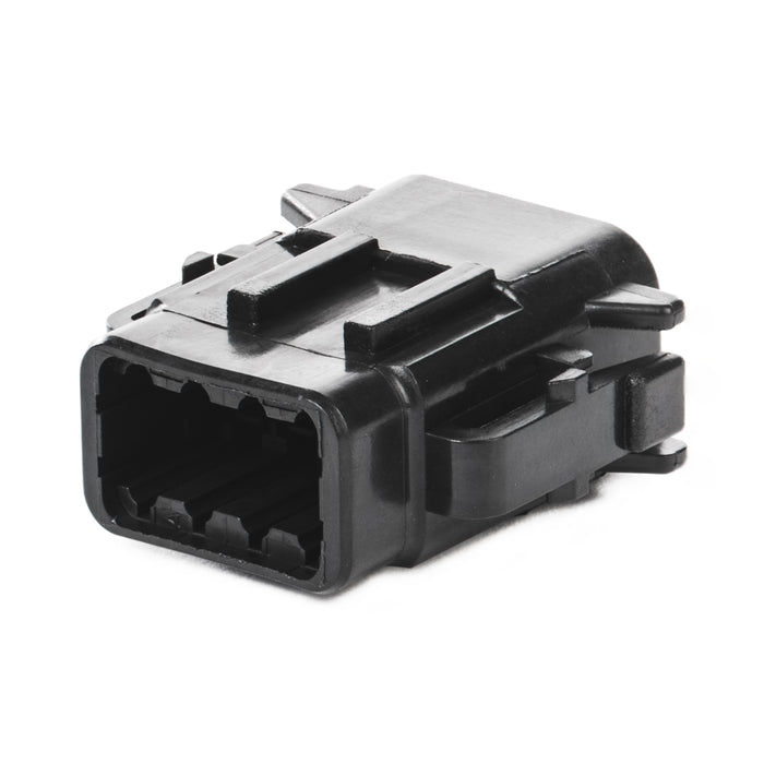 DTM06-08SB - DTM Series - 8 Socket Plug - B Key, Black