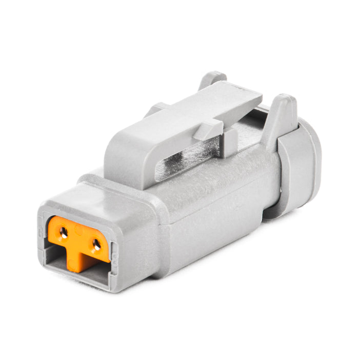 DTM06-2S-P006 - DTM Series - 2 Socket Plug - Terminating Resistor, Gold Sockets, J1939, Gray