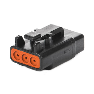 DTM06-3S-E004 - DTM Series - 3 Socket Plug - Black