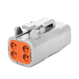 DTM06-4S - DTM Series - 4 Socket Plug - Gray