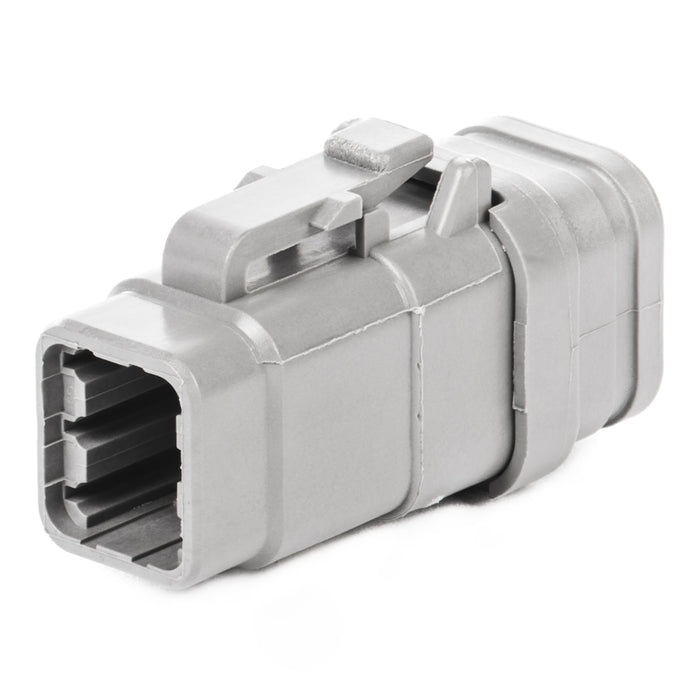 DTM06-6S-E007 - DTM Series - 6 Pin Socket Plug - Shrink Boot Adaptor, Gray