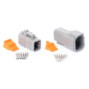 DTM06GY-K - DTM Series - 6 Pin Solid Contact Connector Kit