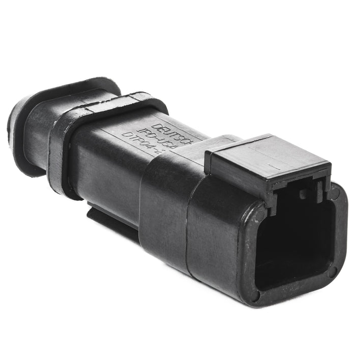DTP04-2P-EE01 - DTP Series - 2 Pin Receptacle - Shrink Boot Adapter, Black