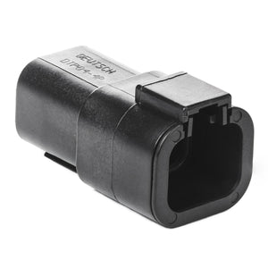 DTP04-4P-E004 - DTP Series - 4 Pin Receptacle - Black