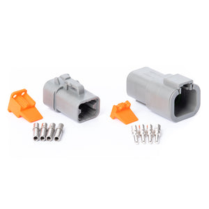 DTP04GY-K - DTP Series - 4 Pin Solid Contact Connector Kit