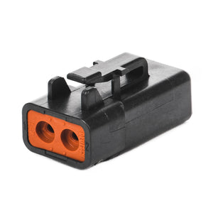 DTP06-2S-E004 - DTP Series - 2 Socket Plug - Black