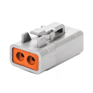 DTP06-2S - DTP Series - 2 Socket Plug - Gray