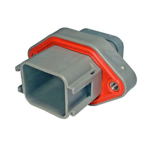 DTV02-18PA - DTV Series - 18 Pin Receptacle -  Sealed Flange, Gasket, End Cap, A Key, Gray