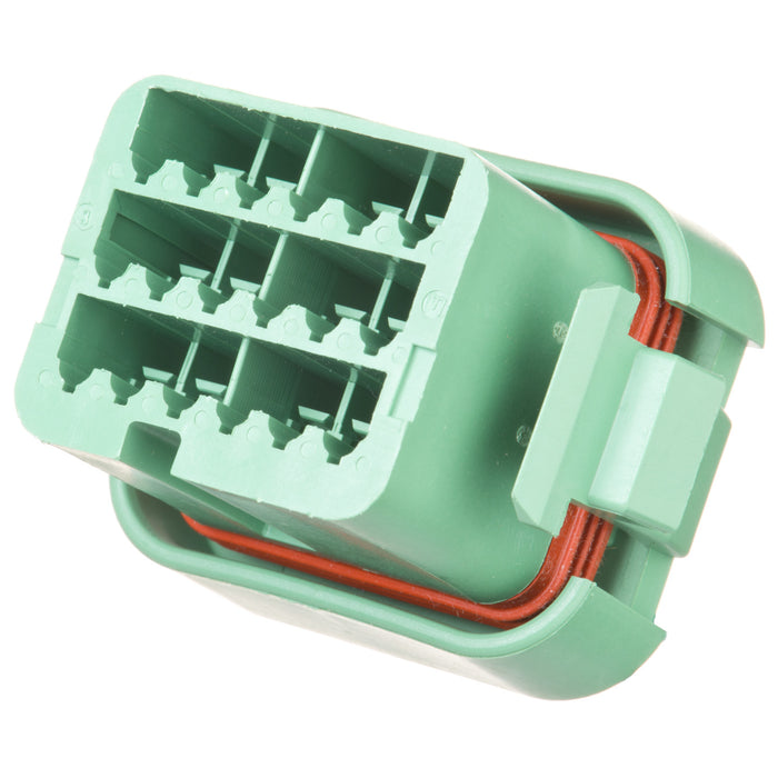 DTV06-18SC - DTV Series  - 18 Socket Plug -  End Cap, C Key, Green