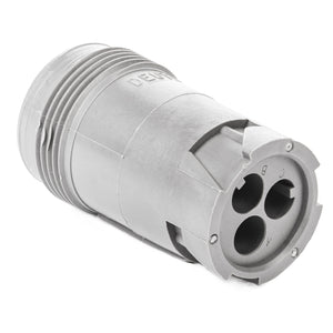 HD14-3-96P - HD10 Series - 3 Pin Receptacle - Threaded Rear, Gray