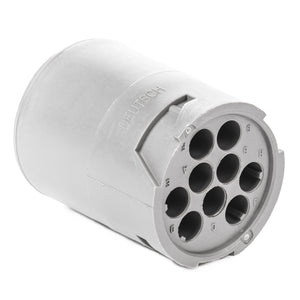 HD14-9-16P - HD10 Series - 9 Pin Receptacle - Non-Threaded Rear, Gray
