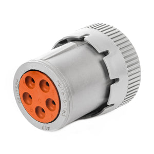 HD16-5-16S - HD10 Series - 5 Socket Plug - Non-Threaded Rear, Gray