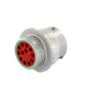 HD34-18-14PN-C020 - HD30 Series - 14 Pin Receptacle - 18 Shell, N Seal, Cavities A,D Blocked, Flange, Silver