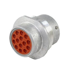 HD34-18-14PT - HD30 Series - 14 Pin Receptacle - 18 Shell, T Seal, Flange