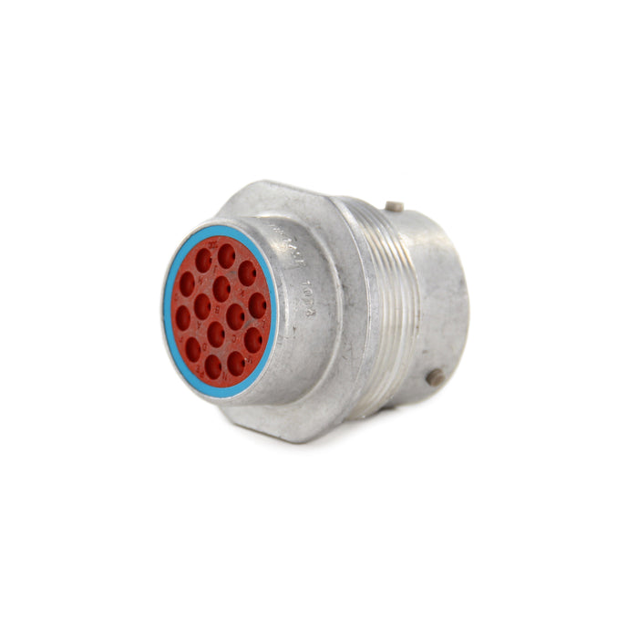 HD34-18-14SE - HD30 Series - 14 Socket Receptacle - 18 Shell, E Seal, Reverse, Flange