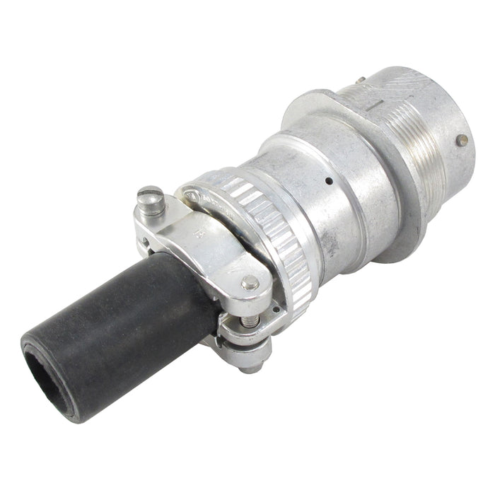 HD34-24-19PE-059 - HD30 Series - 19 Pin Receptacle - 24 Shell, E Seal, Cable Clamp, Flange
