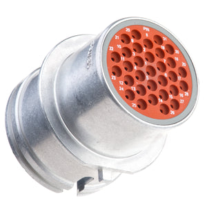 HD34-24-31PT-B019 - HD30 Series - 31 Pin Receptacle - 24 Shell, T Seal, Custom Mount, Flange