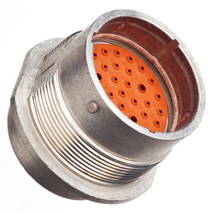 HD34-24-35PN - HD30 Series - 35 Pin Receptacle - 24 Shell, N Seal, Flange