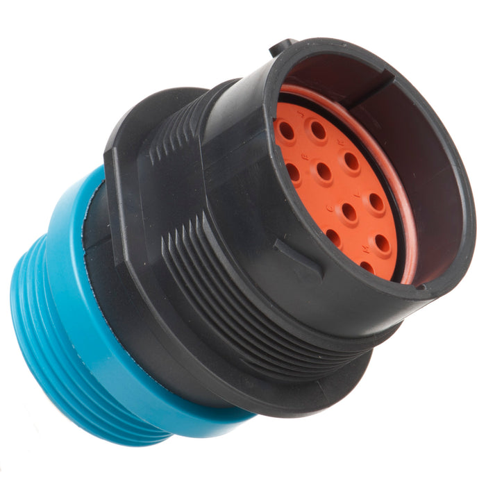 HDP24-24-16PE-L015 - HDP20 Series - 16 Pin Receptacle - 24 Shell, E Seal, Threaded Adapter, Flange