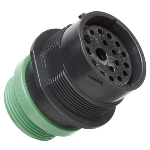 HDP24-24-18SN-L015 - HDP20 Series - 18 Socket Receptacle - 24 Shell, N Seal, Reverse, Threaded Adapter, Flange
