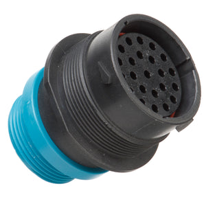 HDP24-24-23SE-L015 - HDP20 Series - 23 Socket Receptacle - 24 Shell, E Seal,  Reverse Threaded Adapter, Flange