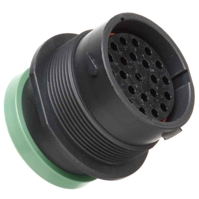 HDP24-24-23SN-L017 - HDP20 Series - 23 Socket Receptacle - 24 Shell, N Seal, Reverse, Ring Adapter, Flange
